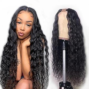 Jerry Curl U Part Wigs Human Hair Wigs Headband Wig