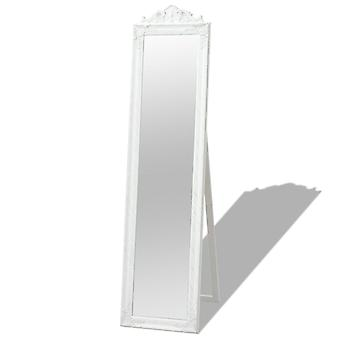 Free-standing Mirror Baroque Style 160x40 Cm White