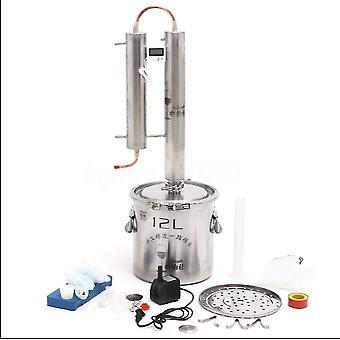 Alcohol Ethanol Distiller Home Brew Still Moonshine Wine Making Boiler 316 Stainless Steel