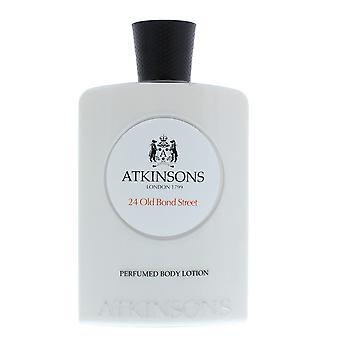 Atkinsons 24 Old Bond Street Perfumed Body Lotion 200ml Unisex NEW.
