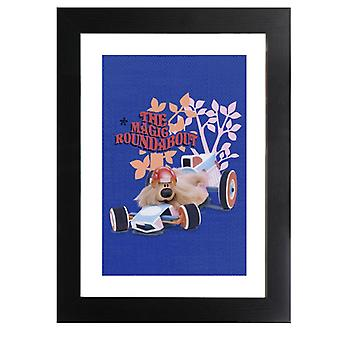 The Magic Roundabout Dougal Race Car Framed Print