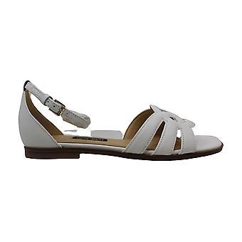Nove West Womens Genna couro aberto Toe casual tornozelo cinta sandálias