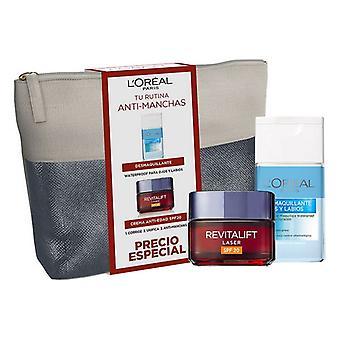 Unisex Kosmetiikkasetti Revitalift Laser L'Oreal Make Up (2 kpl)