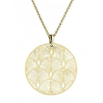 Traveller Pendant With Chain Steel Gold Plated 50/60 Cm 181024 - 884