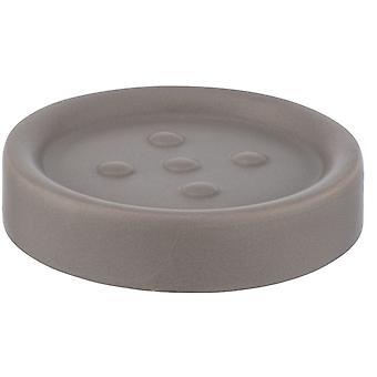 soporte de jabón Polaris 11 x 2,8 cm de topo cerámico