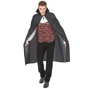 Zwarte kaap van de mens van Halloween Dracula