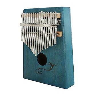 17 Keys Kalimba Thumb Piano Musical Instrument Gifts For Adult Kids Blue