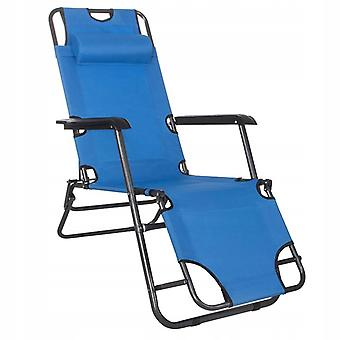 Ergonomische Ligstoel met hoofdsteun - Verstelbaar - Blauw