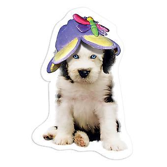 מדבקת מתנה: כובע האסקי סיבירי כלב מצחיק