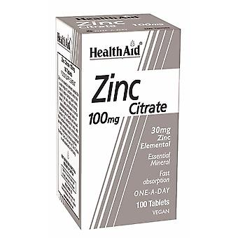 Health Aid Zinc Citrate, 100 Tablets