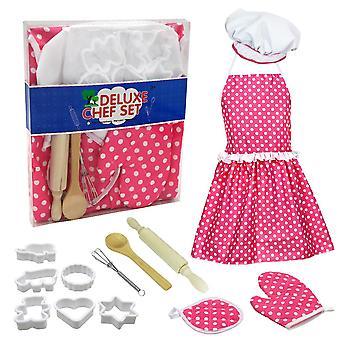 Girls kitchen toy set baking tool apron