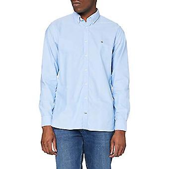 טומי הילפיגר שטיפת חול חולצת אוקספורד, כחול (חולצה כחולה 474), בינוני של גברים