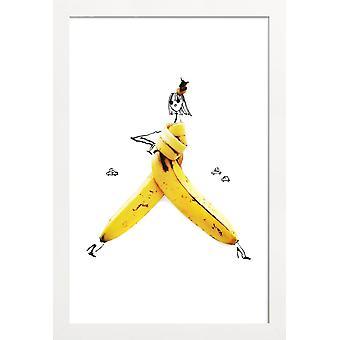 JUNIQE Print - Banana - Banana Poster in Yellow & White