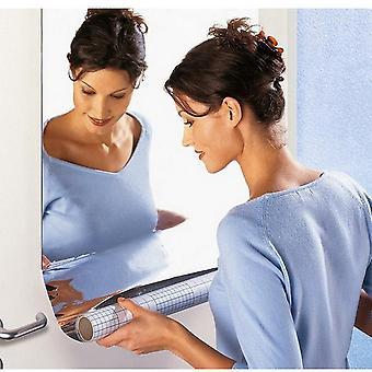 Mirror Wall Sticker, Rectangle, Self Adhesive Room Decor Stick On Art, Mirror
