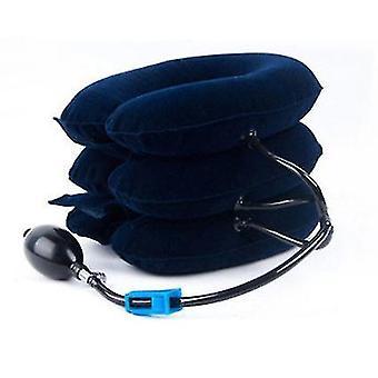 Sininen kohdunkaulan vetolaite sametti puhallettava niskatuki kolmikerroksinen metalliventtiili sairaanhoito x2250