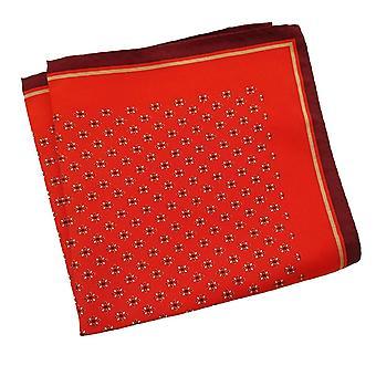 Punainen & tumma Maroon Paisley suuri 33cm miesten tasku neliö