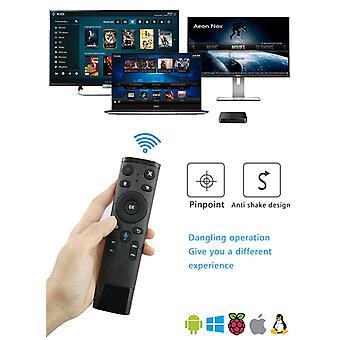 Q5 بلوتوث/2.4ghz واي فاي صوت التحكم عن بعد الماوس الهواء مع جهاز استقبال USB لمربع الروبوت التلفزيون الذكية