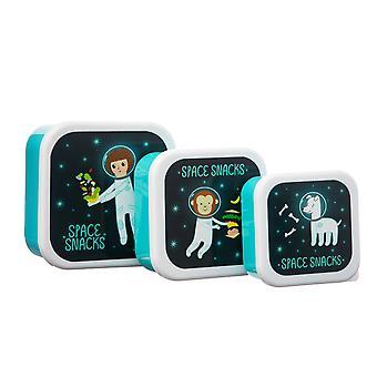 Sass & Belle -sarja 3 Space Explorerin lounaslaatikkoa