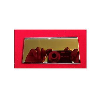 焊接黑色玻璃过滤器与金色涂层镜头护目镜弧形面膜银