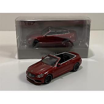 Minichamps 870037032 2016 Mercedes AMG C63 C Class Cabrio Red 1:87 Scale