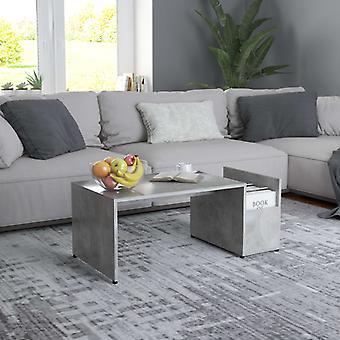 vidaXL sohvapöytä betoni harmaa 90x45x35 cm lastulevy