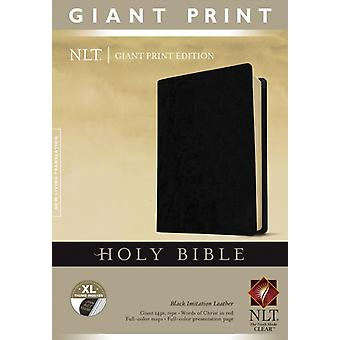NLT Holy Bible Giant Print Black Indexed by Edited by Tyndale