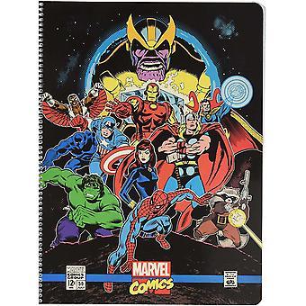 "CTPMA40020 Spiralblock A4 kariert mit Mikroperforation""Marvel Comics Avengers"""