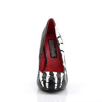 Funtasma Apparel & Accessories > Costumes & Accessories > Costume Shoes > Womens X-RAY-12 Blk Pu