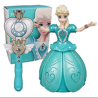 Gyermekek infravörös távirányító káprázatos Princess Doll, táncoló és éneklő baba (kék)
