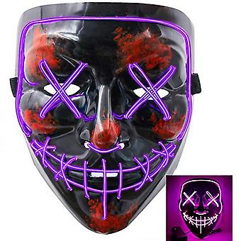 Halloween Scary Mask Cosplay Led Costume Mask El Wire Light Up Festival Party