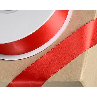 25m Red 15mm Wide Satin Ribbon for Crafts