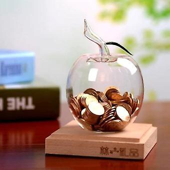 Caixas de dinheiro de piggy de maçã de vidro