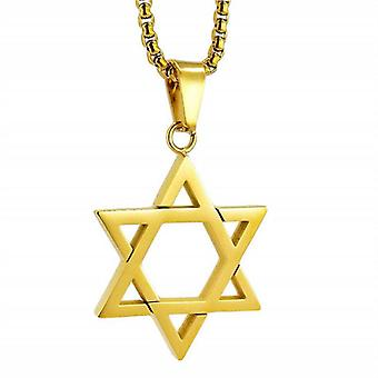 Mens  925 Silve Star of David Necklace - 22 inch