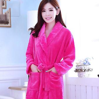 Home Clothes Floral Dressing Gown Housecoat Hotel Bathrobe Women Bathing Robes Coral Fleece Nightdress For Female