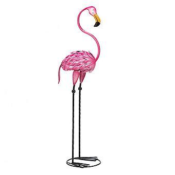 Summerfield Terrace Metal 3-Foot Flamingo Yard Art, Pack of 1