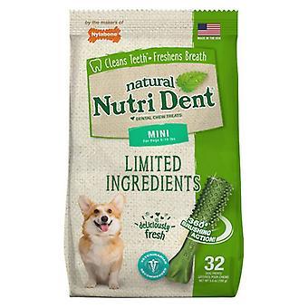 Nylabone Natural Nutri Dent Fresh Breath Dental Chews - Begränsade Ingredienser - Mini - 32 Count