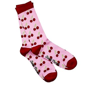 Swole Panda Womens Cherry Bamboo Socks