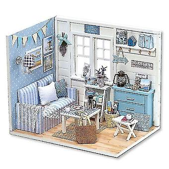 Dollhouse accessories diy doll house miniature dollhouse with furnitures wooden house miniaturas toys for children