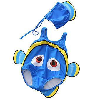 Taaperot Baby Boys Girls Uimapuku Clownfish Uimapuku ja Uimalakki Asu