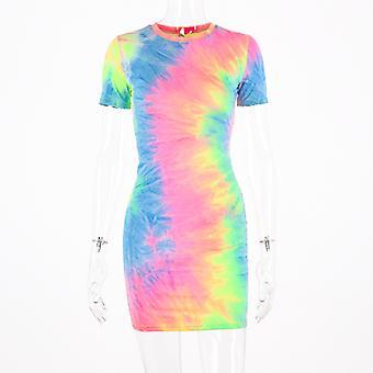 Mode damer Slips Färg sling klänning