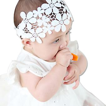 3pcs baby jente blonder blomst pannebånd for bryllup bursdag foto rekvisitt