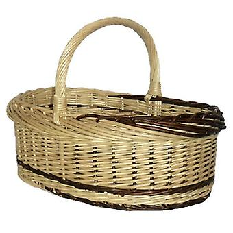 Rustikk Willow Norfolk handle Basket