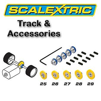 Scalextric アクセサリー - 5 種アソート Contrate 歯車のパック