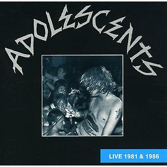 Adolescents - Live 1981 & 1986 [CD] USA import