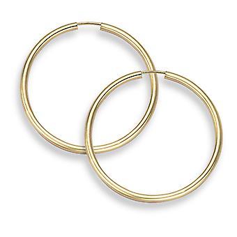 "14K Gold Creolen - 1 3/16"" Durchmesser (2mm Dicke)"