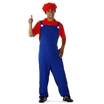 Super putkimies Mario puku super hero puku Miesten
