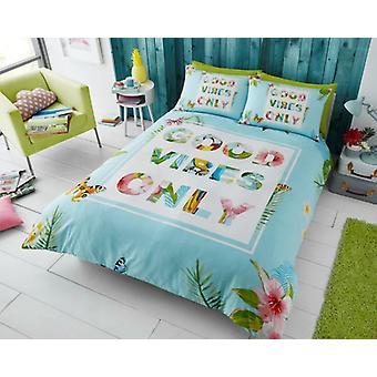 Varer Vibes kun Premium trykt dynebetræk sengetøj sæt