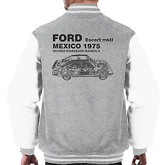 Haynes Workshop Manual Ford Escort MkII Mexico Black Men's Varsity Jacket
