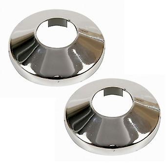 2 x pièces chromé plastique PVC radiateur tuyaux couvercle collier Rose 15-22mm diamètre