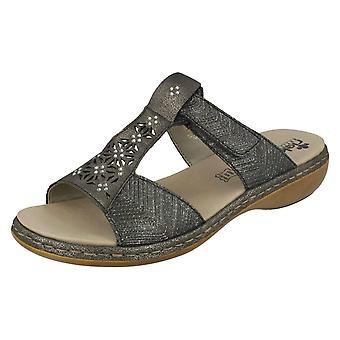 Ladies Rieker Diamante kuttet ut Sandal 65950
